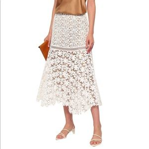 MICHAEL Michael Kors Cotton Guipure Lace Skirt